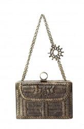 Indian Fashion Designers - Meera Mahadevia - Contemporary Indian Designer - Antique Rectangular Clutch - MM-SS16-MM-DM-COU-008