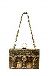 Indian Fashion Designers - Meera Mahadevia - Contemporary Indian Designer - Antique Metal Clutch - MM-SS16-MM-DM-COU-024