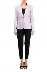 Indian Fashion Designers - Michelle Salins - Contemporary Indian Designer - Purple Linen Notch Collar Jacket - MS-SS16-SHWR-1654-PUR-JCKT