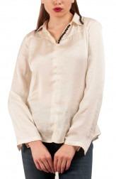 Indian Fashion Designers - Riddhi And Revika - Contemporary Indian Designer - Classy Collared White Shirt - RRI-SS16-SHRT-10