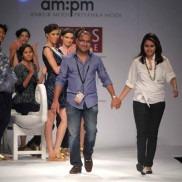 Indian Fashion Designers - Ankur Modi and Priyanka Modi on the ramp with their label am:pm