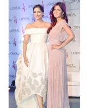 Anamika Khanna: Sonam Kapoor's Friend and Favourite Designer Sonam Kapoor at L'oreal Cannes Press Conference 2015