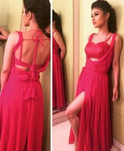 Mouni Roy Sizzles in Red Gown