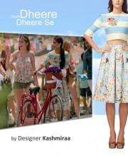 Sonam Kapoor in a Kashmiraa Striped Crop Top Set in the video Dheere Dheere
