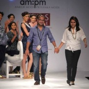 Indian Fashion Designers - Ankur Modi and Priyanka Modi on the ramp with their label am:pm