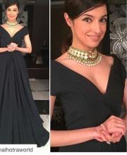 Divya Khosla Kumar in a Black Manish Malhotra Gown