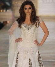 Aishwarya Rai Looks Stunning in an Ivory Manish Malhotra Lehenga
