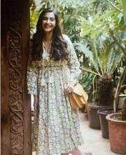 Sonam Kapoor Wears Pretty Print Dress