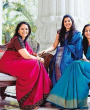 Ally Matthan, Apoorva Sadanand and Kaushalya Satyakumar- Founders of The Registry of Sarees (TRS) | The 100 Saree Pact